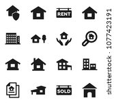 flat vector icon set   house... | Shutterstock .eps vector #1077423191