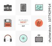modern flat icons set of...   Shutterstock .eps vector #1077429914