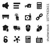 flat vector icon set  ...