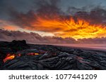 Small photo of Lava sunrise on the southeast rift zone of Kilauea volcano