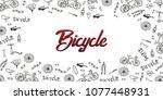 doodle vector illustration of... | Shutterstock .eps vector #1077448931