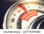3d render of a rev counter with ... | Shutterstock . vector #1077459584
