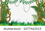 a jungle template with vine... | Shutterstock .eps vector #1077462515