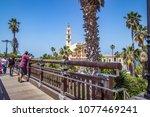 jaffa  israel   april 06  2018  ... | Shutterstock . vector #1077469241