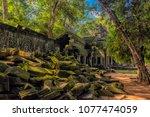 siem reap  cambodia 06.07.2017...   Shutterstock . vector #1077474059