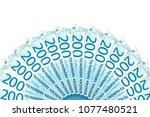 some new 200 norwegian krone... | Shutterstock . vector #1077480521
