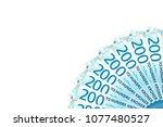 some new 200 norwegian krone... | Shutterstock . vector #1077480527