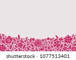 beautiful frame made of hand... | Shutterstock .eps vector #1077513401
