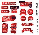 banner sale collection set  ... | Shutterstock .eps vector #1077516707