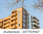 construction of brick house...   Shutterstock . vector #1077519467