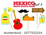 cinco de mayo photo booth props ... | Shutterstock .eps vector #1077522314