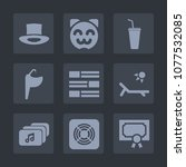 premium set of fill icons. such ... | Shutterstock .eps vector #1077532085