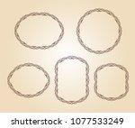 set vector retro frames .vector ... | Shutterstock .eps vector #1077533249