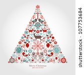 christmas tree | Shutterstock .eps vector #107753684