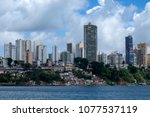 the cityscape of salvador de... | Shutterstock . vector #1077537119