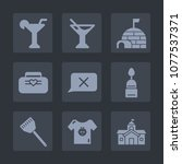 premium set of fill icons. such ... | Shutterstock .eps vector #1077537371