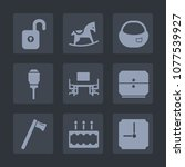 premium set of fill icons. such ... | Shutterstock .eps vector #1077539927
