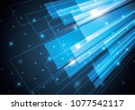technology abstract stripe... | Shutterstock .eps vector #1077542117