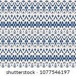 ikat seamless pattern. vector... | Shutterstock .eps vector #1077546197