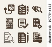test filled vector icon set on...