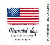 happy memorial day lettering....   Shutterstock .eps vector #1077546851
