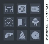 premium set of fill icons. such ... | Shutterstock .eps vector #1077547655