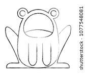 cute frog costume baby halloween | Shutterstock .eps vector #1077548081