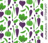 vegetable sketch style seamless ... | Shutterstock .eps vector #1077549197