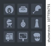 premium set of fill icons. such ... | Shutterstock .eps vector #1077556751