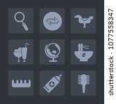 premium set of fill icons. such ... | Shutterstock .eps vector #1077558347