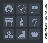 premium set of fill icons. such ... | Shutterstock .eps vector #1077558389