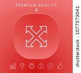 extend  resize  enlarge line...   Shutterstock .eps vector #1077573041