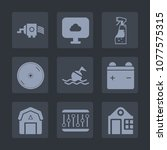 premium set of fill icons. such ... | Shutterstock .eps vector #1077575315