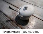 white sugar in a ceramic bowl...