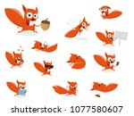 Funny Cartoon Squirrel Clipart...