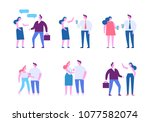 different people characters.... | Shutterstock .eps vector #1077582074