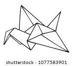 simple vector outline... | Shutterstock .eps vector #1077583901