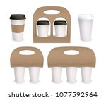 coffee cup carton paper pack... | Shutterstock .eps vector #1077592964