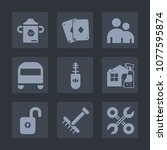 premium set of fill icons. such ...   Shutterstock .eps vector #1077595874