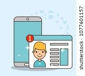 kids social media | Shutterstock .eps vector #1077601157