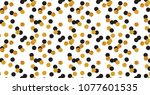 abstract polka dot pattern with ... | Shutterstock .eps vector #1077601535