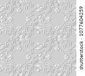 3d white paper art spiral curve ... | Shutterstock .eps vector #1077604259