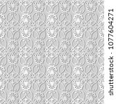 3d white paper art spiral curve ... | Shutterstock .eps vector #1077604271