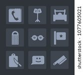 premium set of fill icons. such ... | Shutterstock .eps vector #1077605021