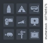 premium set of fill icons. such ...   Shutterstock .eps vector #1077605171