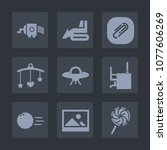 premium set of fill icons. such ... | Shutterstock .eps vector #1077606269