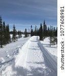 winter scene in labrador  canada | Shutterstock . vector #1077608981