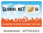 global travel tourist internet... | Shutterstock .eps vector #1077612311