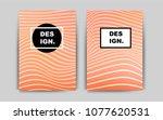 light red vector brochure for...