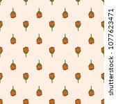 vector color of tiny marigold... | Shutterstock .eps vector #1077623471